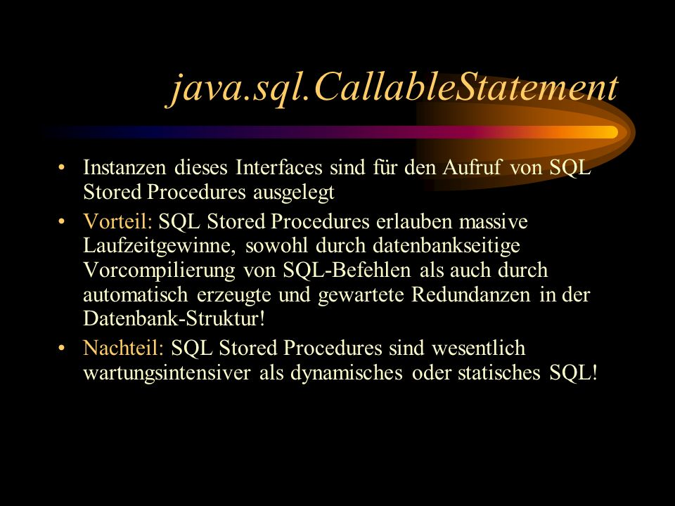 java.sql.CallableStatement