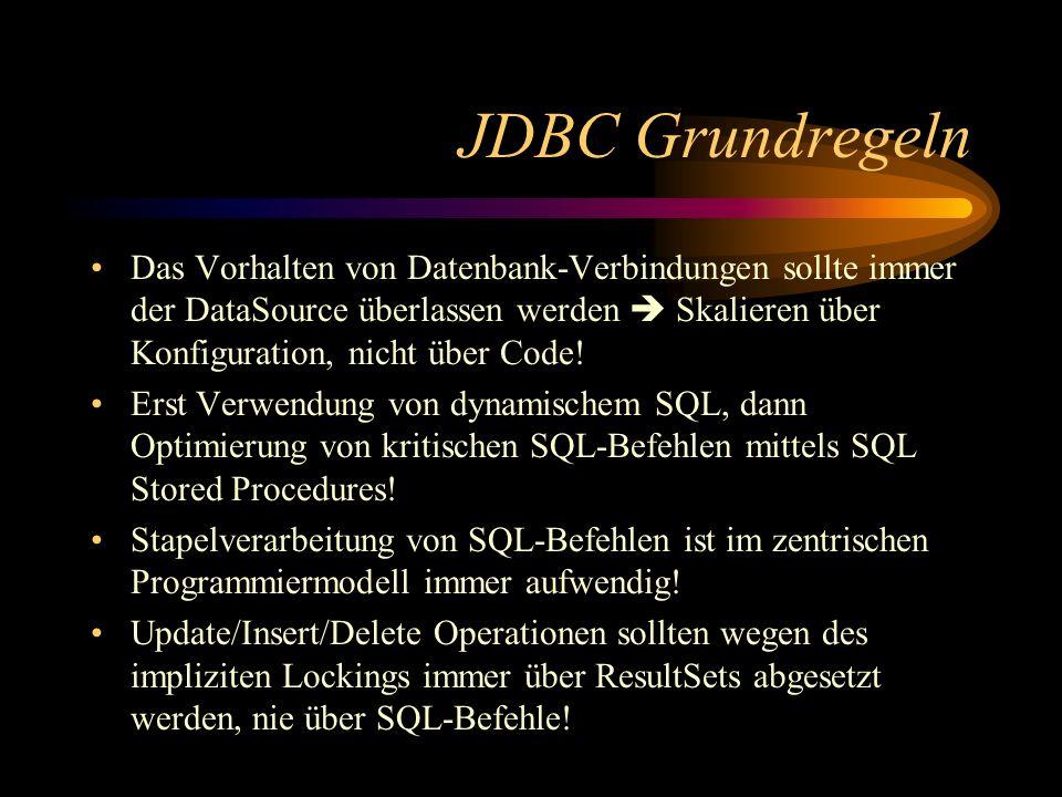 JDBC Grundregeln