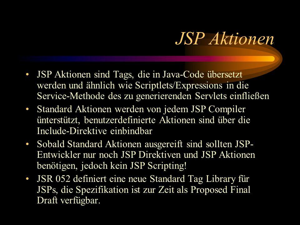JSP Aktionen