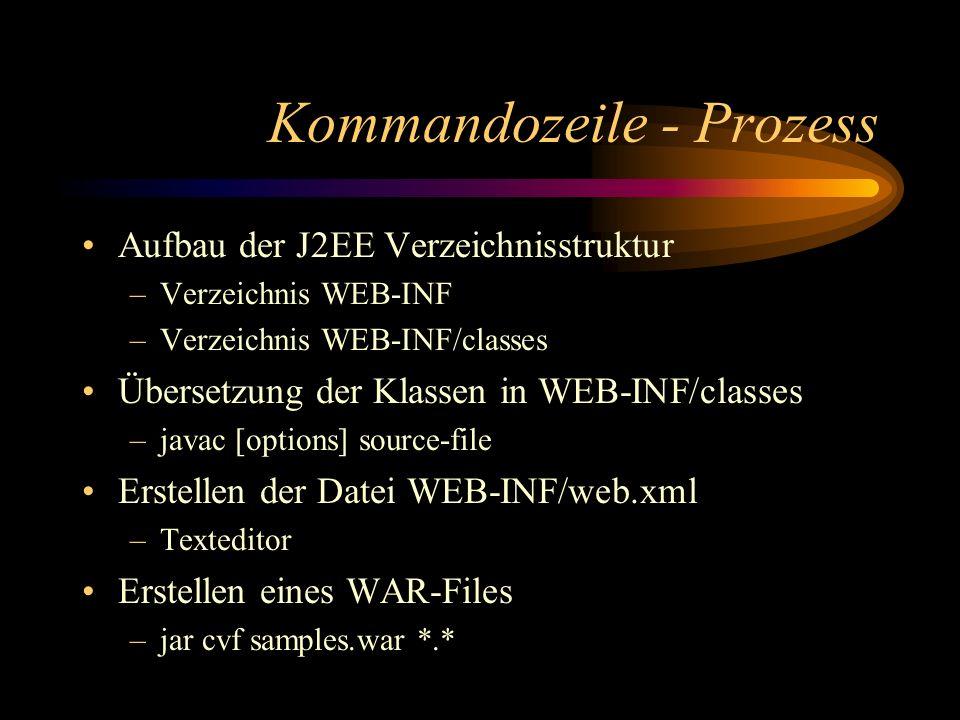 Kommandozeile - Prozess