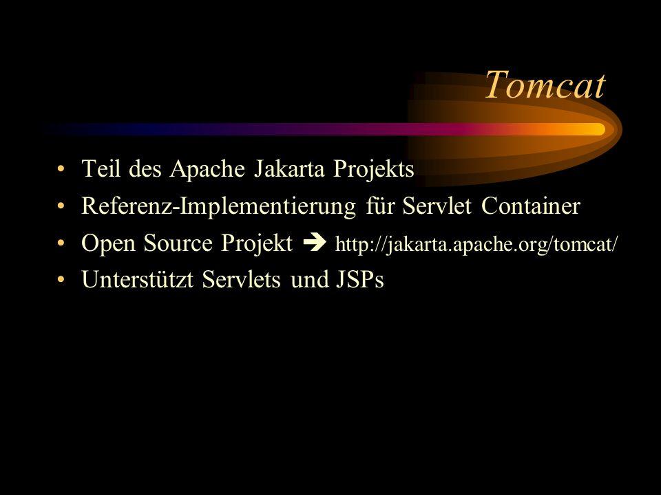 Tomcat Teil des Apache Jakarta Projekts