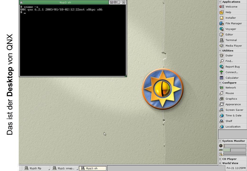 Das ist der Desktop von QNX