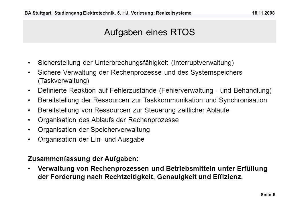 7) Vorstellung eines Realzeitbetriebssystems