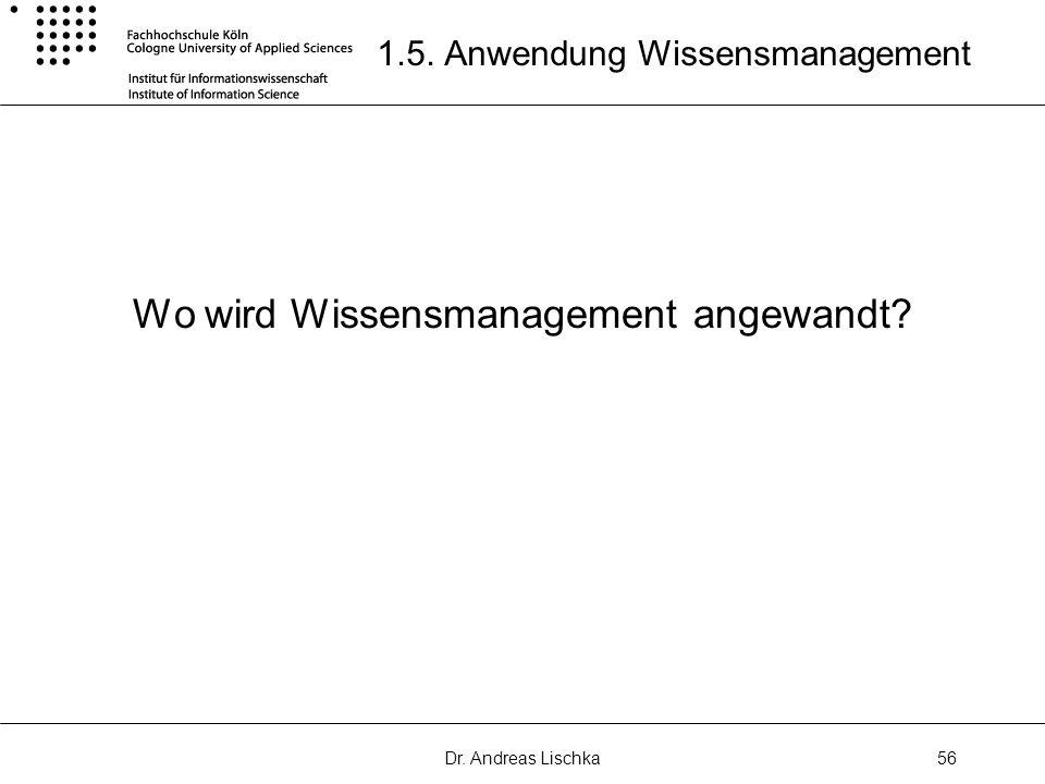 1.5. Anwendung Wissensmanagement