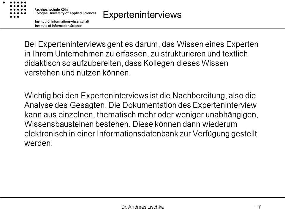 Experteninterviews