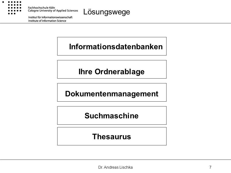 Informationsdatenbanken Dokumentenmanagement