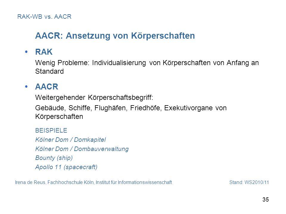AACR: Ansetzung von Körperschaften