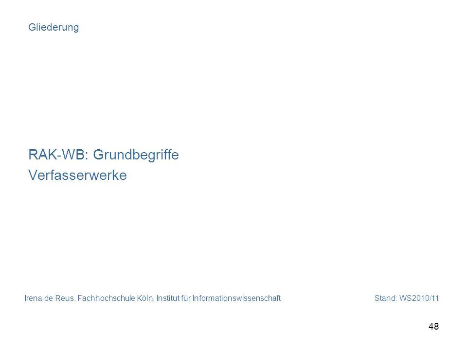 RAK-WB: Grundbegriffe Verfasserwerke