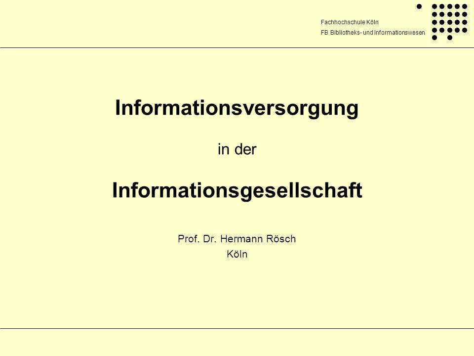 Informationsversorgung in der Informationsgesellschaft
