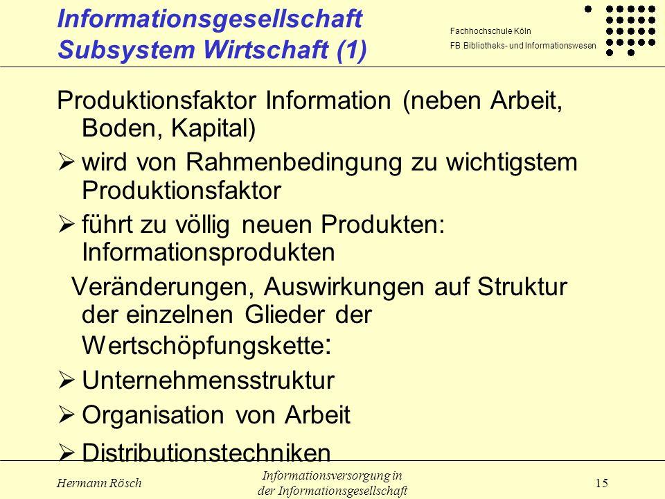 Informationsgesellschaft Subsystem Wirtschaft (1)