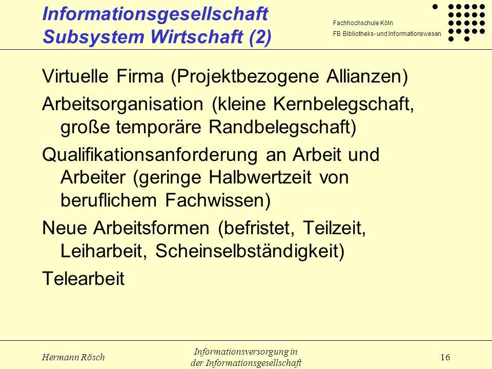 Informationsgesellschaft Subsystem Wirtschaft (2)