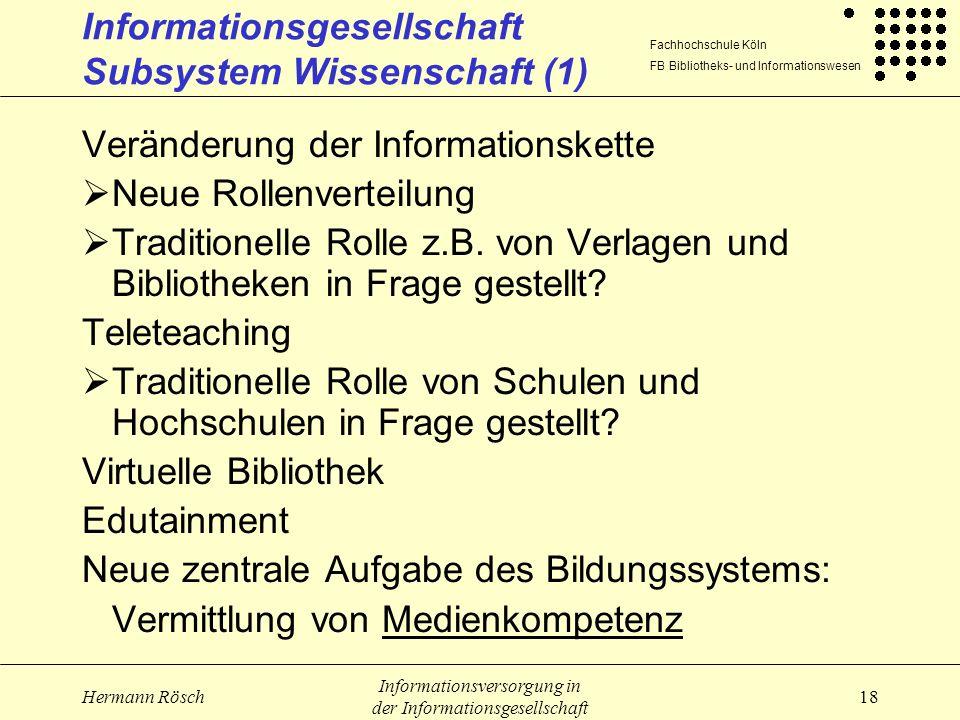 Informationsgesellschaft Subsystem Wissenschaft (1)