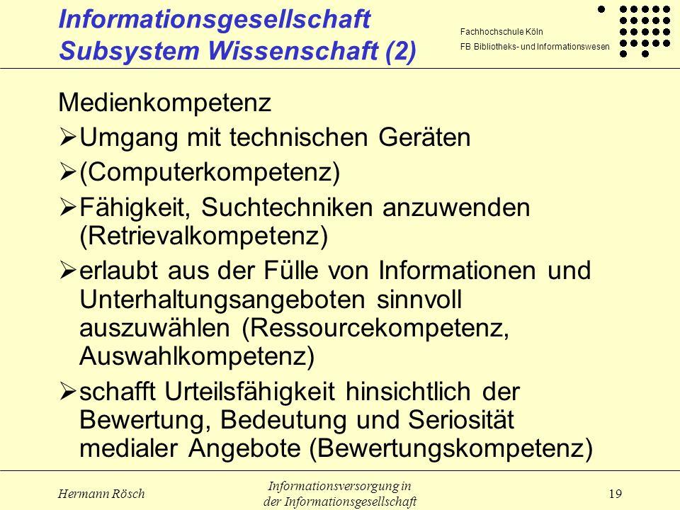 Informationsgesellschaft Subsystem Wissenschaft (2)