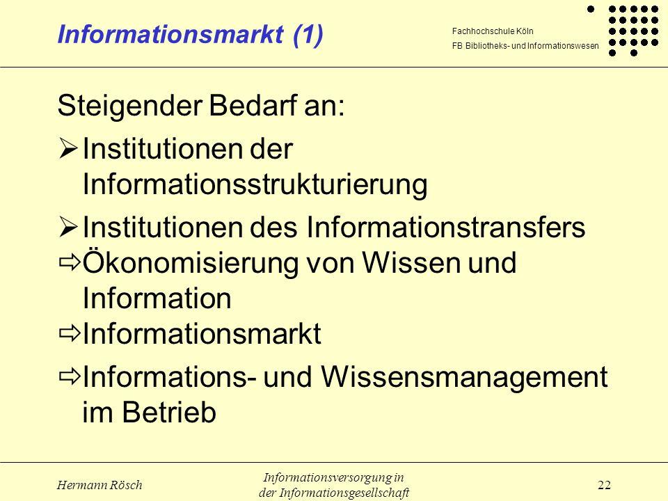 Institutionen der Informationsstrukturierung