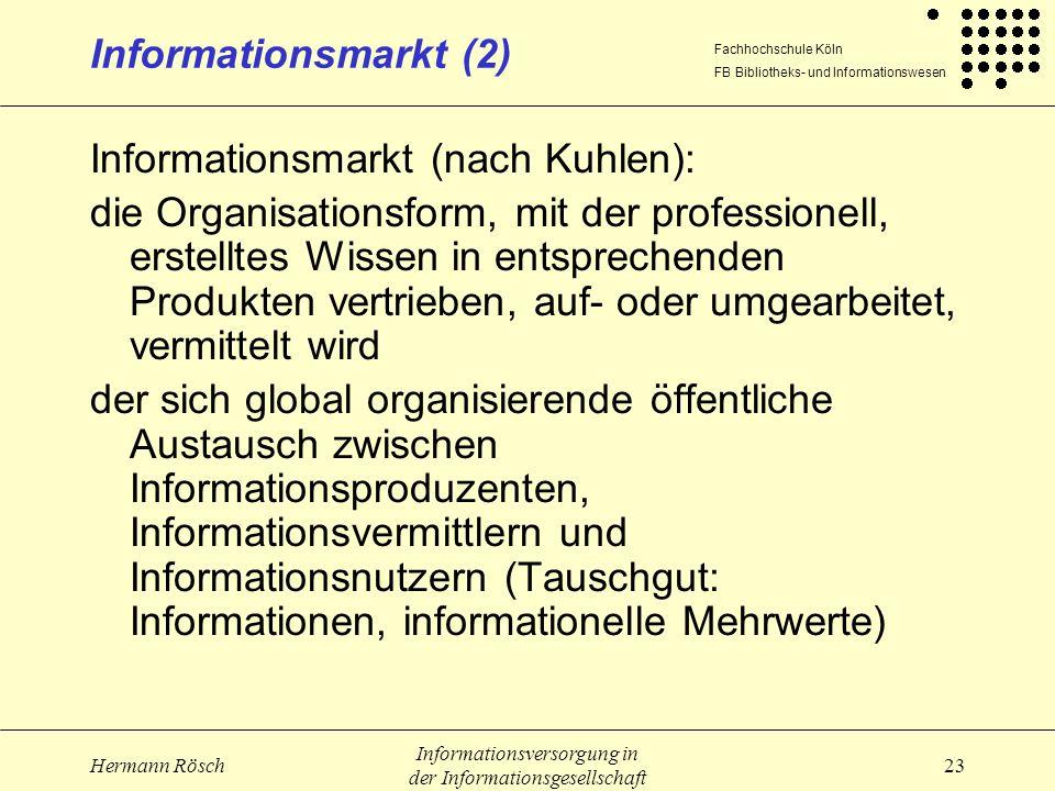 Informationsmarkt (nach Kuhlen):