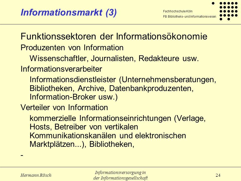 Funktionssektoren der Informationsökonomie