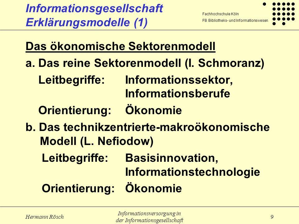 Informationsgesellschaft Erklärungsmodelle (1)