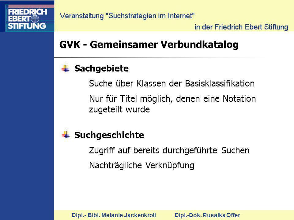 GVK - Gemeinsamer Verbundkatalog