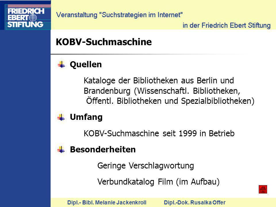 KOBV-Suchmaschine Quellen