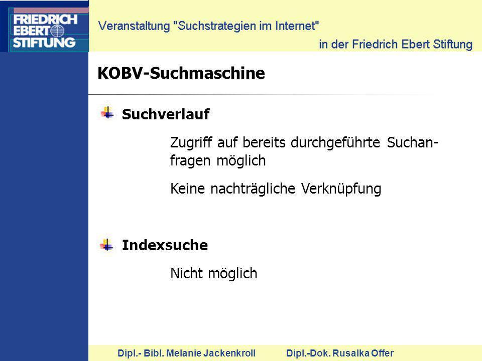 KOBV-Suchmaschine Suchverlauf