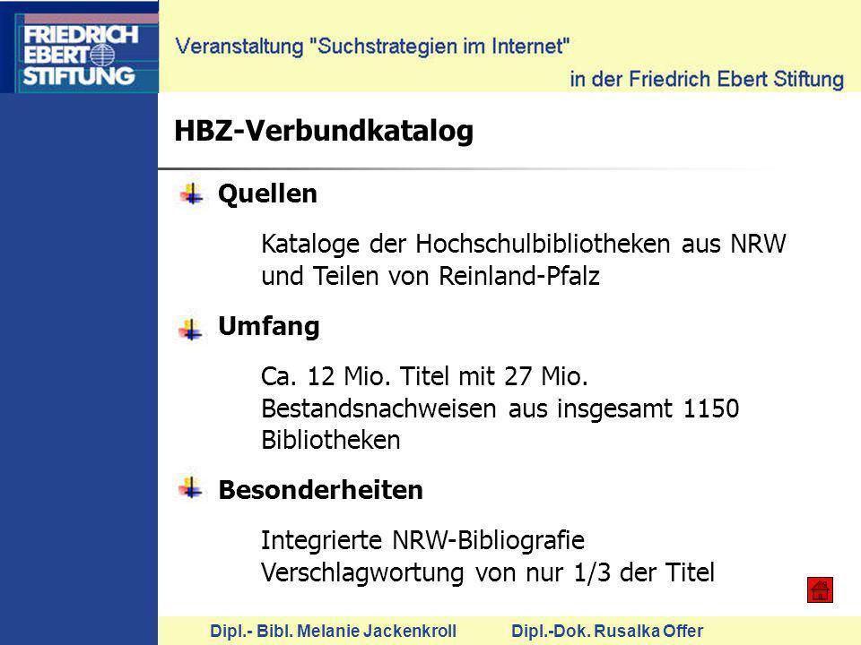 HBZ-Verbundkatalog Quellen