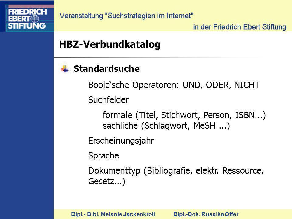 HBZ-Verbundkatalog Standardsuche
