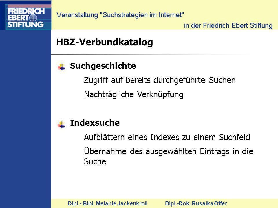 HBZ-Verbundkatalog Suchgeschichte