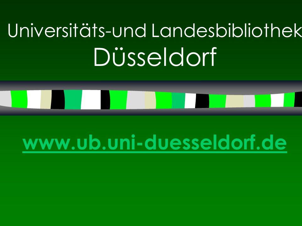 Universitäts-und Landesbibliothek Düsseldorf