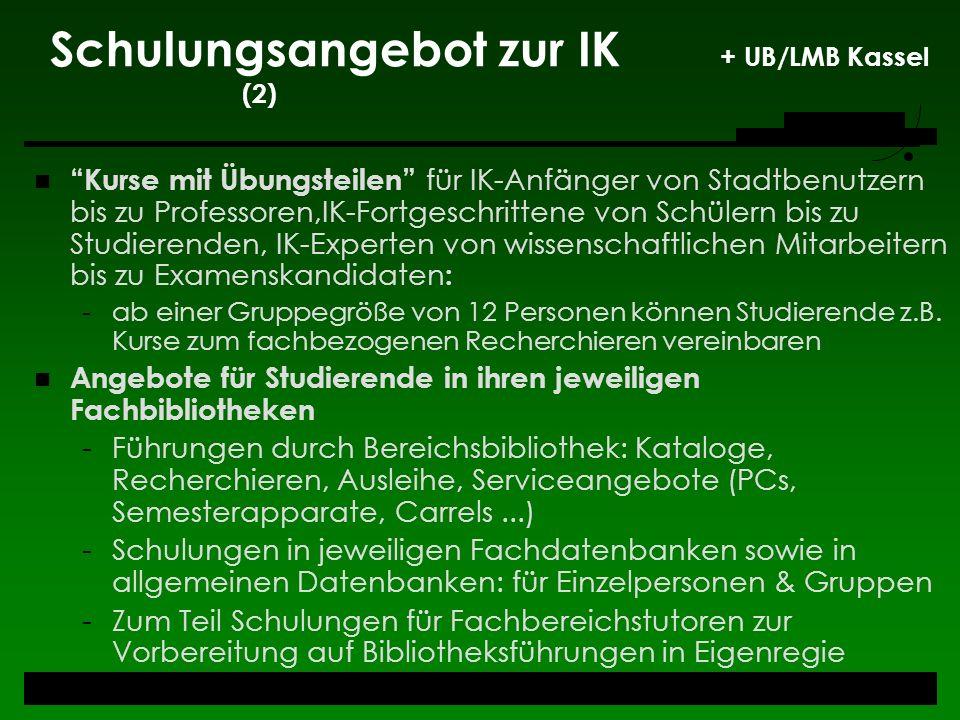 Schulungsangebot zur IK + UB/LMB Kassel (2)