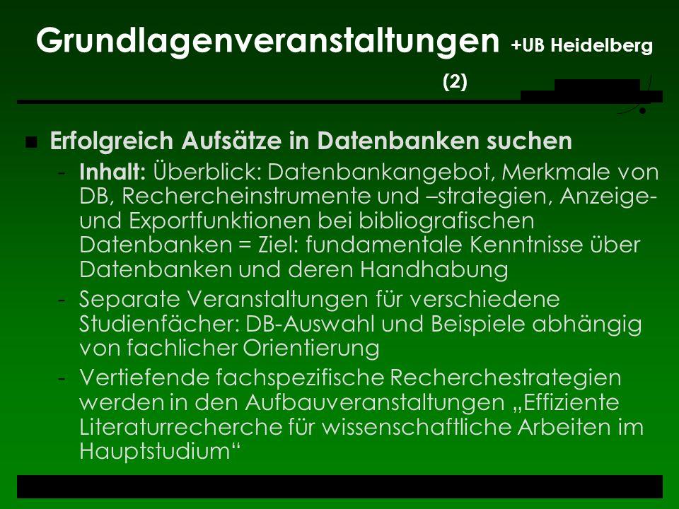 Grundlagenveranstaltungen +UB Heidelberg (2)