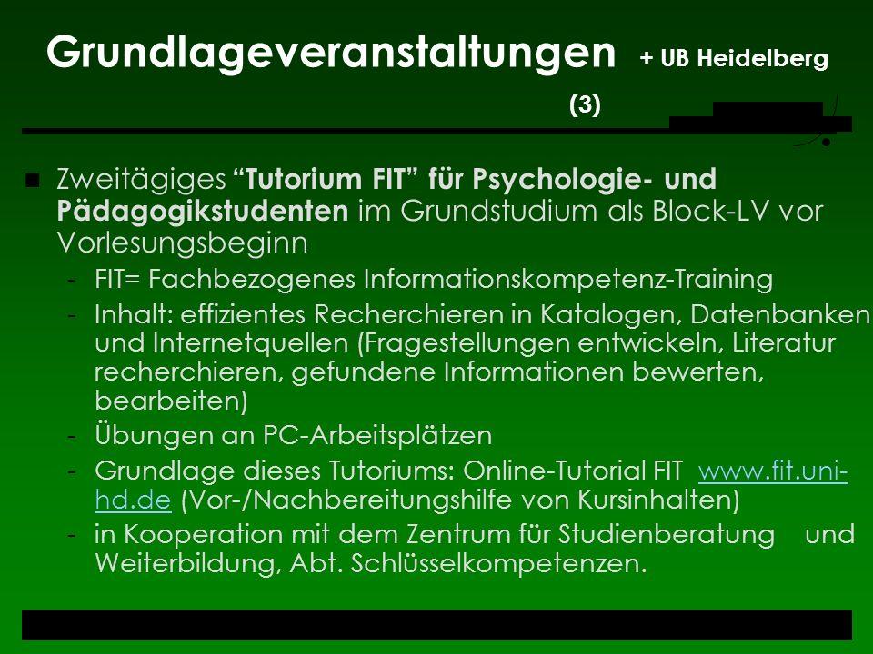 Grundlageveranstaltungen + UB Heidelberg (3)