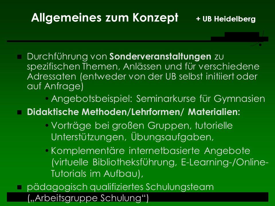 Allgemeines zum Konzept + UB Heidelberg