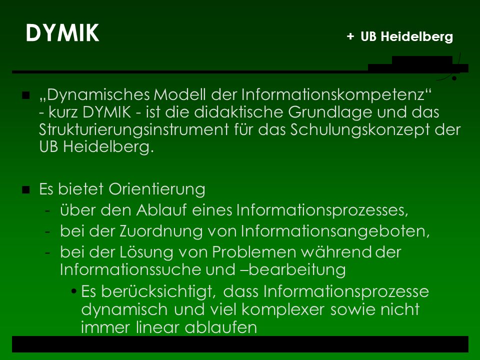 DYMIK + UB Heidelberg