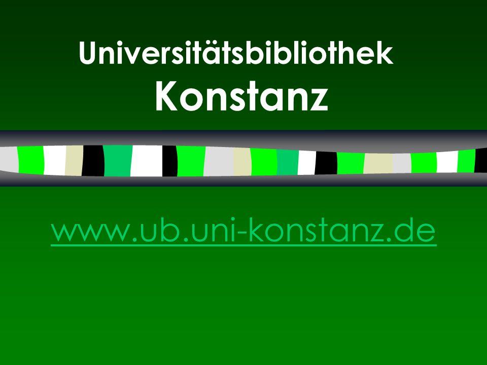 Universitätsbibliothek Konstanz