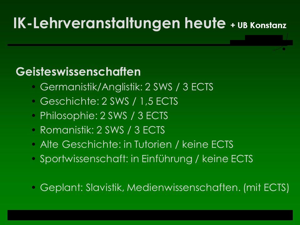IK-Lehrveranstaltungen heute + UB Konstanz