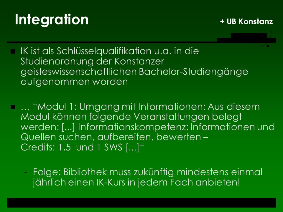 Integration + UB Konstanz