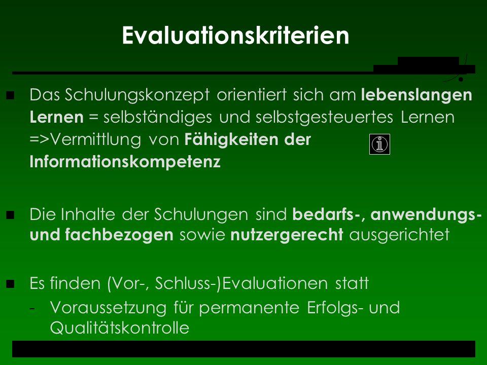 Evaluationskriterien