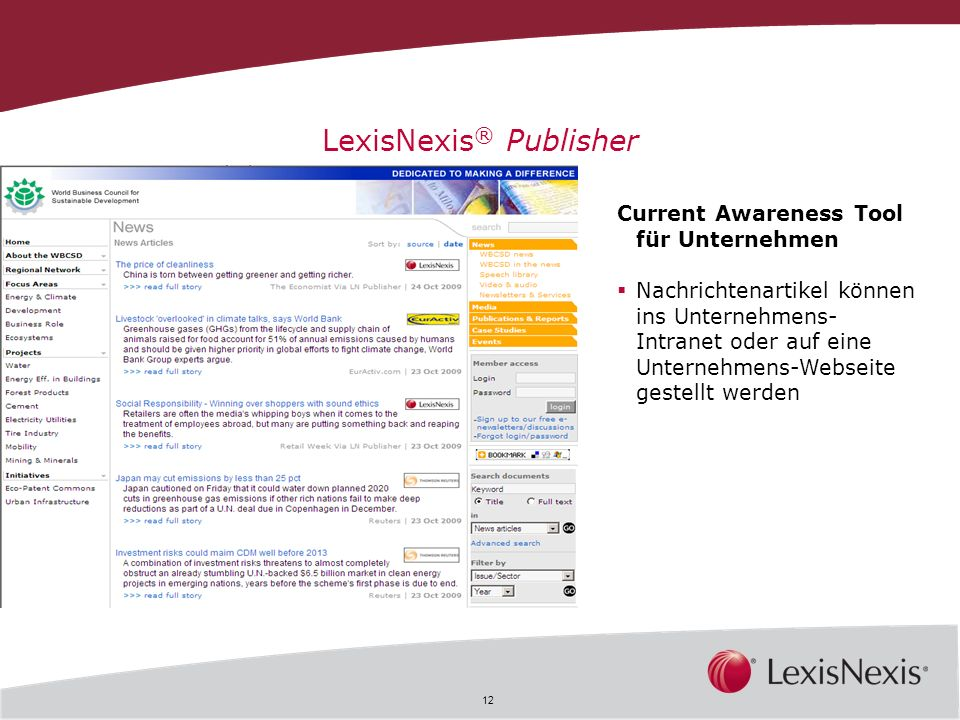 LexisNexis® Publisher