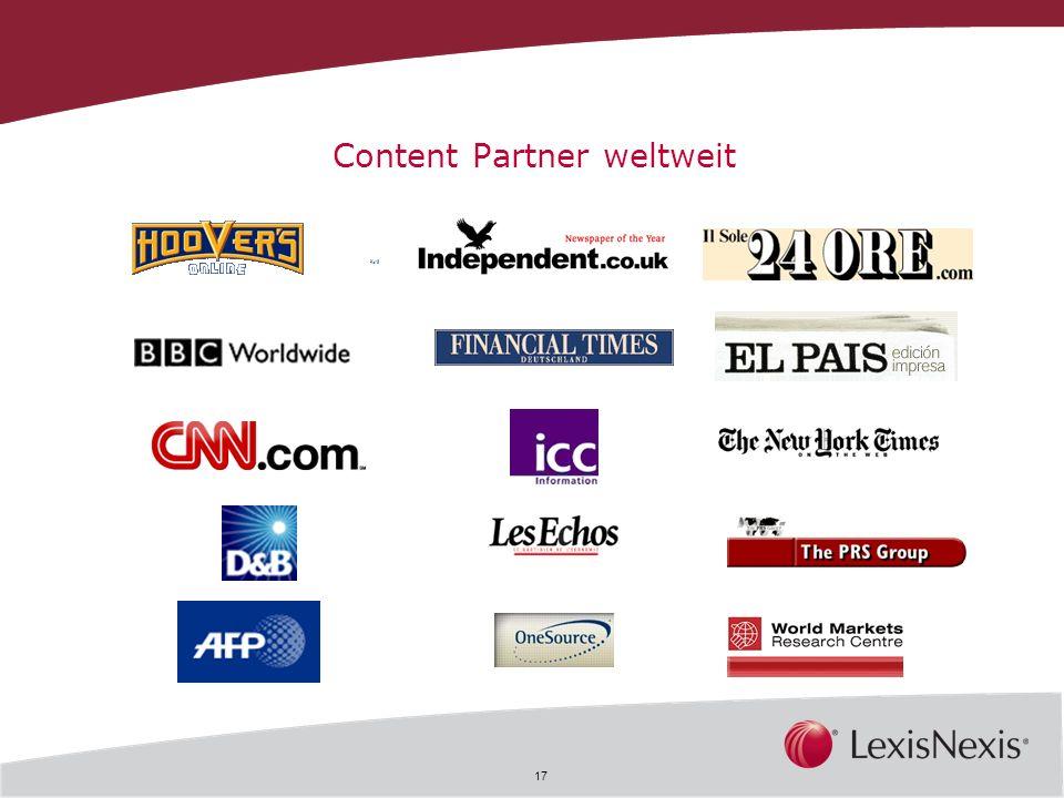 Content Partner weltweit