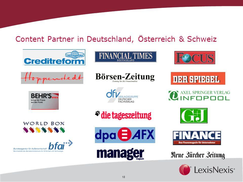 Content Partner in Deutschland, Österreich & Schweiz
