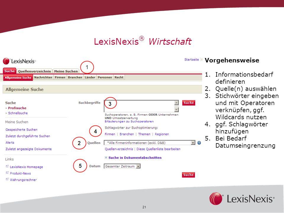 LexisNexis® Wirtschaft