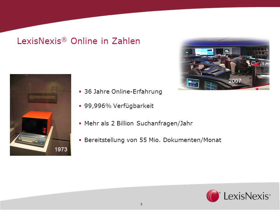 LexisNexis® Online in Zahlen
