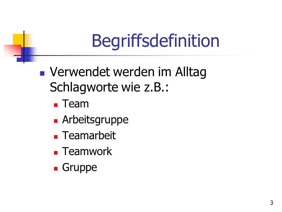 Begriffsdefinition Verwendet werden im Alltag Schlagworte wie z.B.: