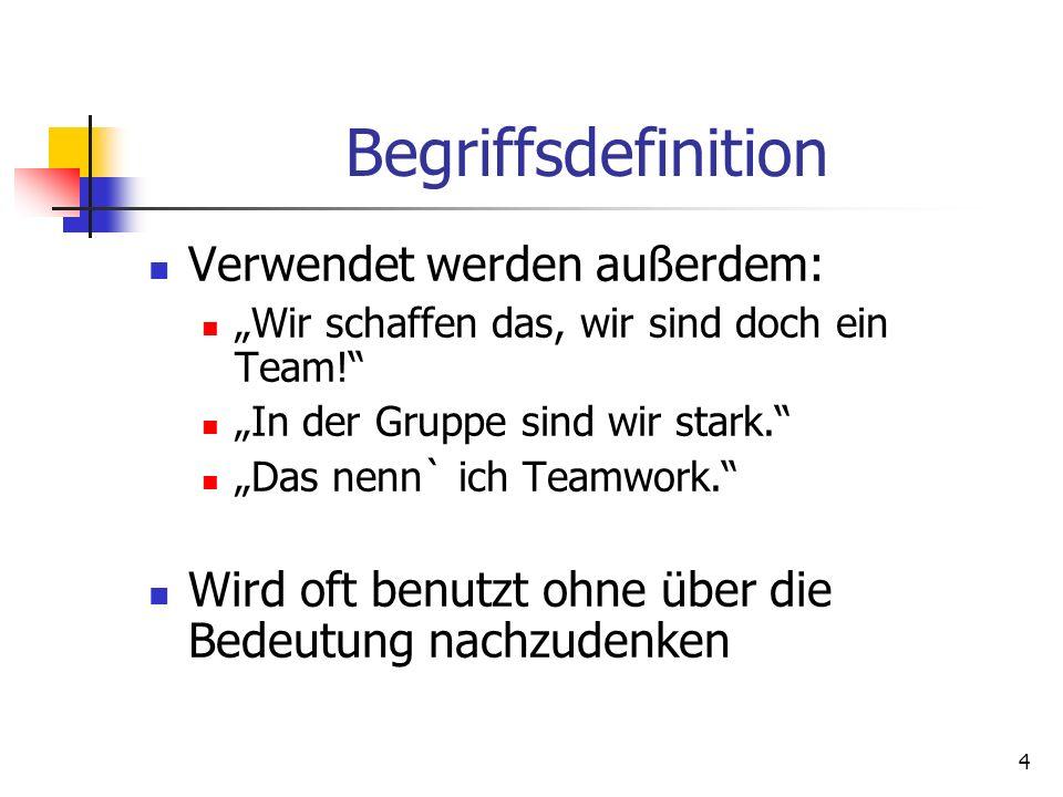 Begriffsdefinition Verwendet werden außerdem:
