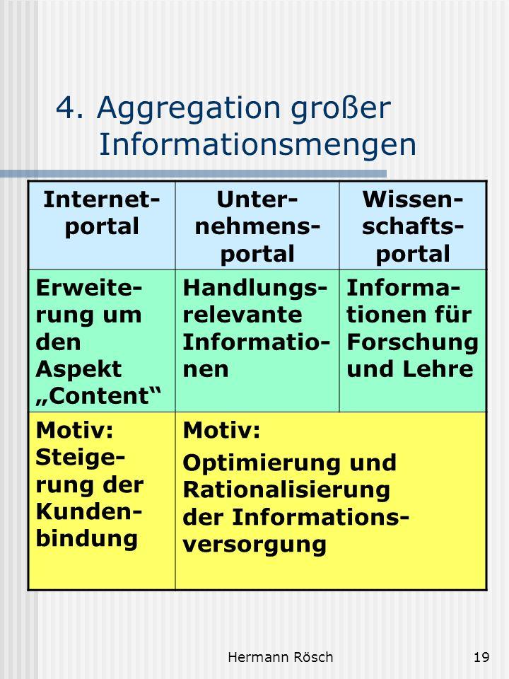4. Aggregation großer Informationsmengen