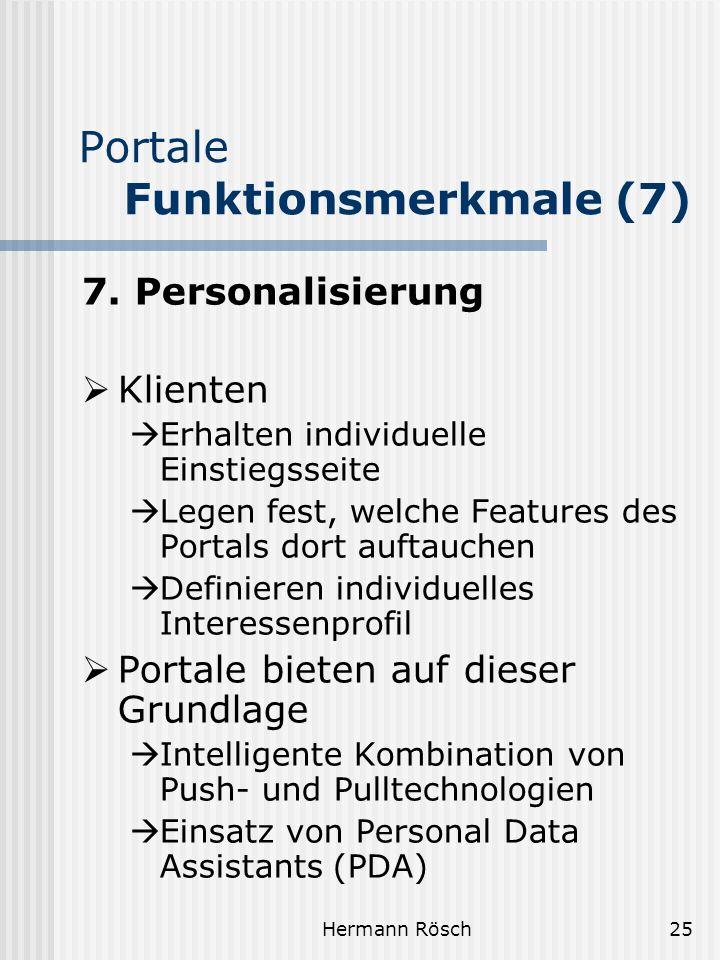 Portale Funktionsmerkmale (7)