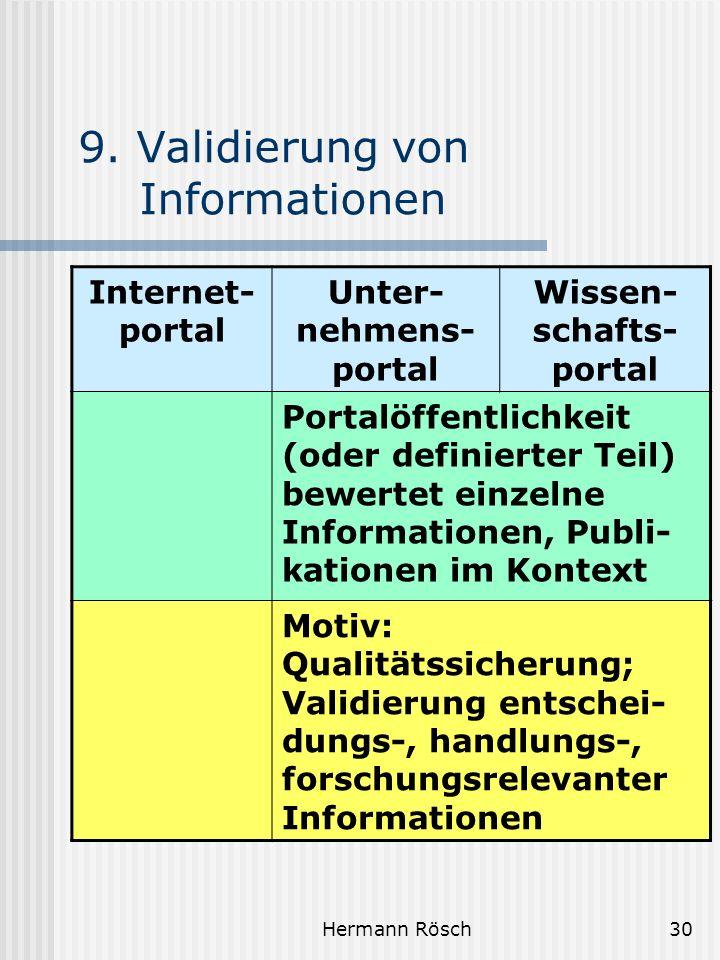 9. Validierung von Informationen