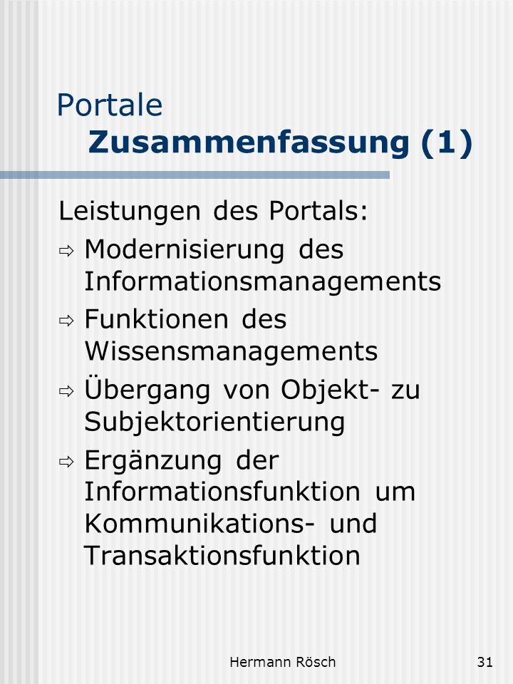 Portale Zusammenfassung (1)
