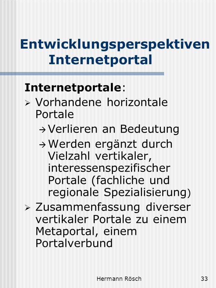 Entwicklungsperspektiven Internetportal