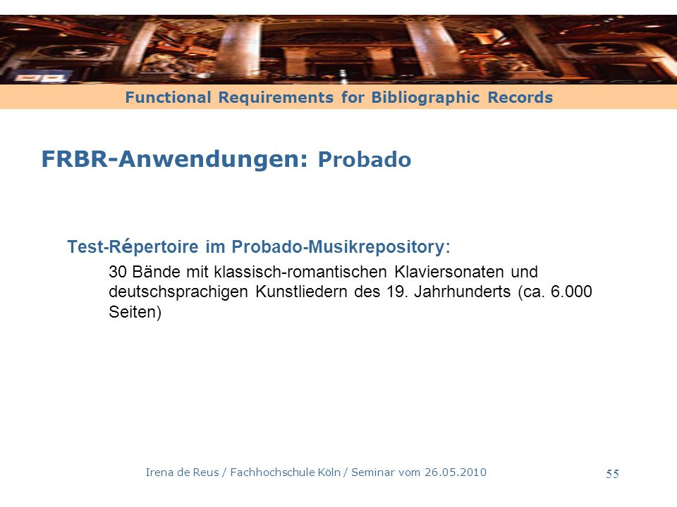 FRBR : Am Weg zum neuen Katalog
